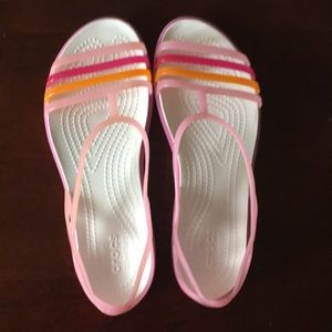 Crocs Strappy Pink/Orange Sandals Size 8